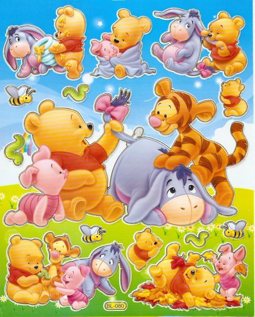 10 Big sheets Baby Pooh Sticker Buy 2 lots Bonus 1 #WP BL080