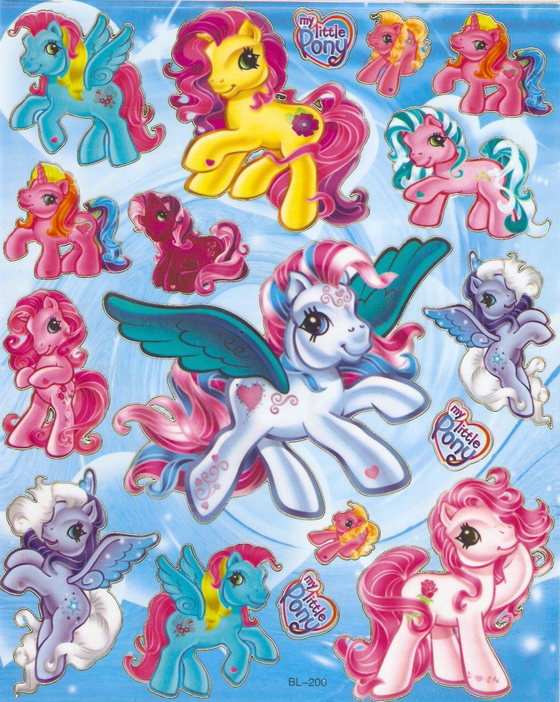 10 Big sheets M y Little Pony Sticker Buy 2 lots Bonus 1 #MLP BL200