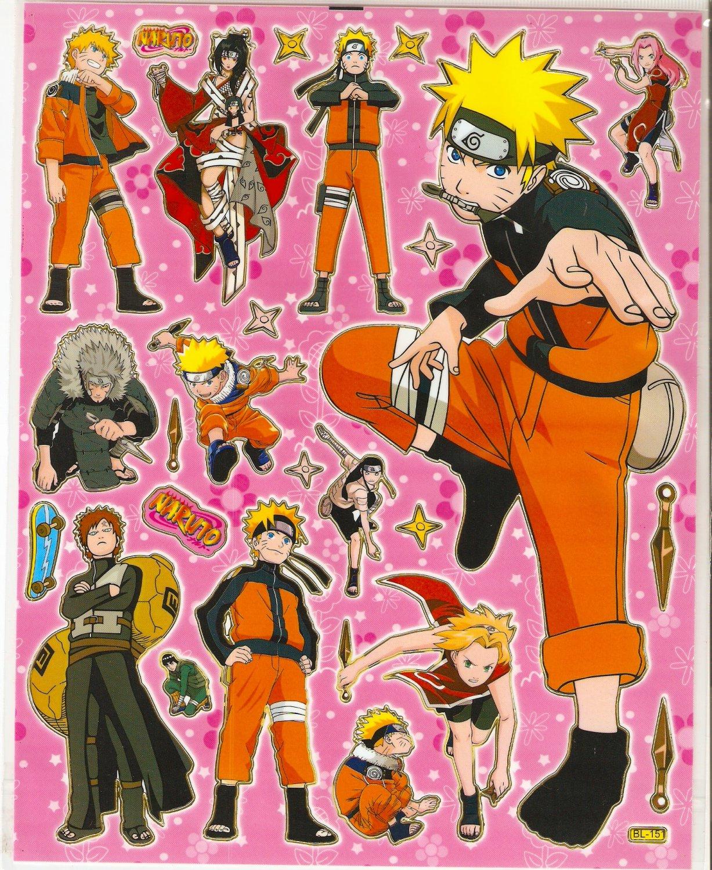 10 Big sheets Naruto Sticker Buy 2 lots Bonus 1 #BL151