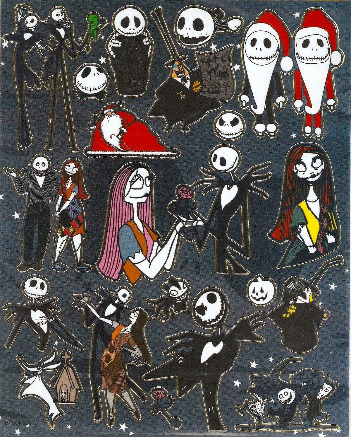 10 Big sheets Nightmare Before Christmas Sticker Buy 2 lots Bonus 1 #NBC EPSON006