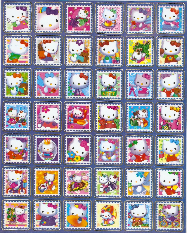 10 Big sheets Hello Kitty Sticker Buy 2 lots Bonus 1 #C096
