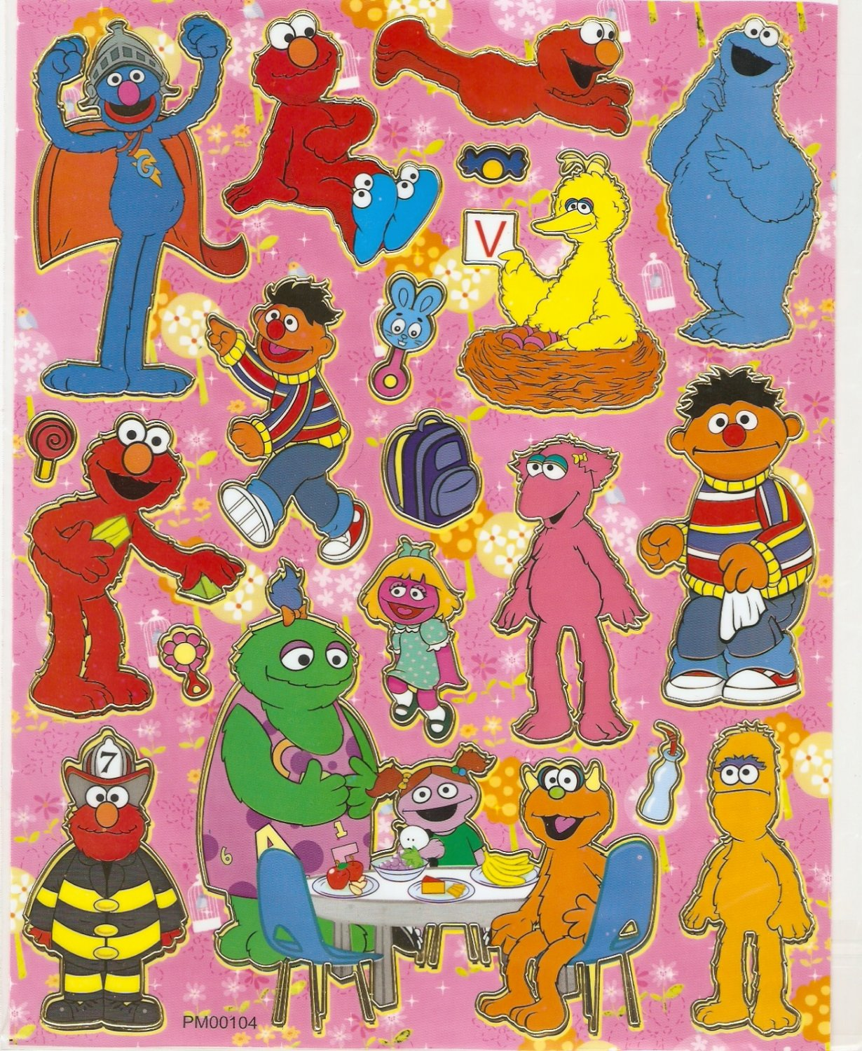 10 Big sheets Elmo Sticker Buy 2 lots Bonus 1 #ELM PM00104