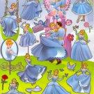 10 Big sheets Princess Sticker Buy 2 lots Bonus 1 #DP E003