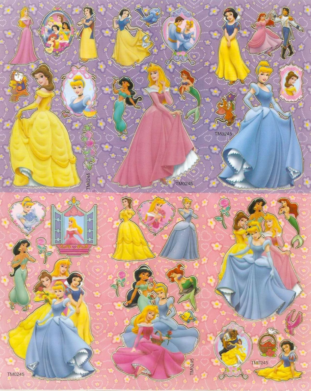 10 Big sheets Princess Sticker Buy 2 lots Bonus 1#DP TM0245