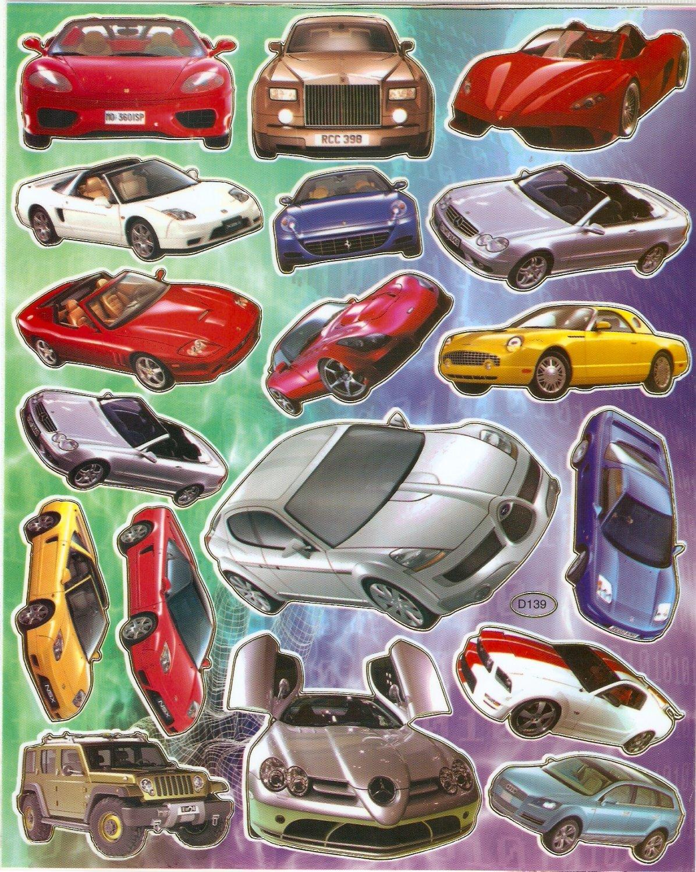 10 Big sheets Car Model Sticker Buy 2 lots Bonus 1 #CAR D139