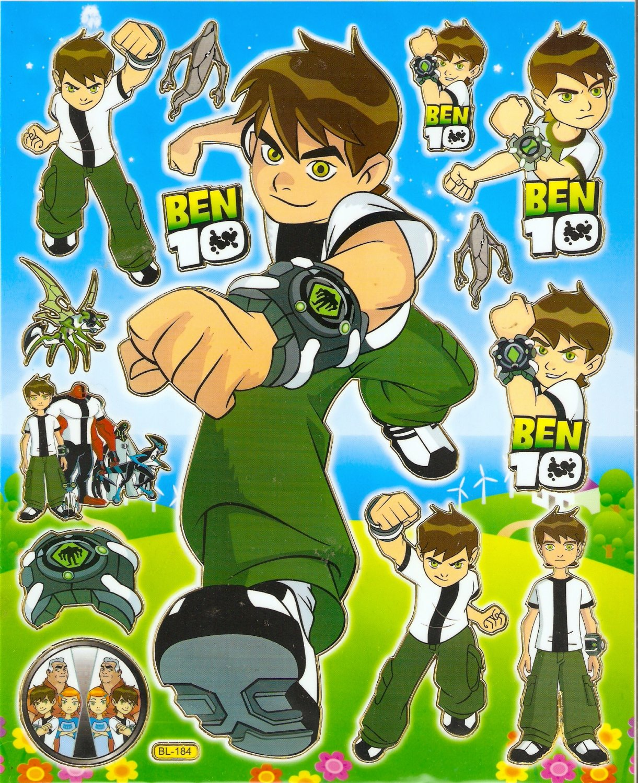 10 Big sheets Ben Sticker Buy 2 lots Bonus 1 #BEN BL184