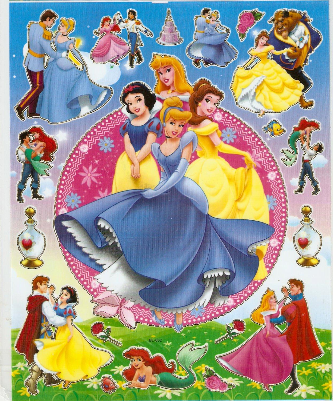 10 Big sheets Princess Sticker Buy 2 lots Bonus 1 #BL002