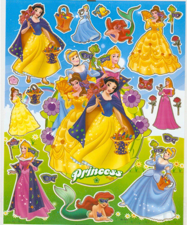 10 Big sheets Princess Sticker Buy 2 lots Bonus 1 #DP BL023