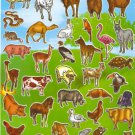 10 Big sheets Forest Zoo Animal Stickers Buy 2 lots Bonus 1 lot  #TM0016