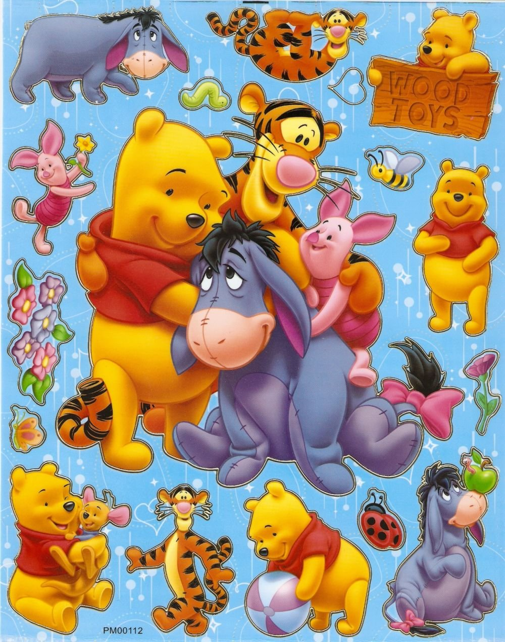 10 Big sheets Winnie Pooh Buy 2 lots Bonus 1  #PM00112