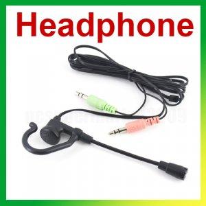 FREE SHIPPING Computer mini earphone with microphone skype,msn,yahoo