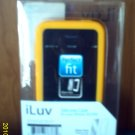 FREE SHIPPING Iphone 3g/3gs YELLOW ILUV case WITH ANTIGLARE screen protecter
