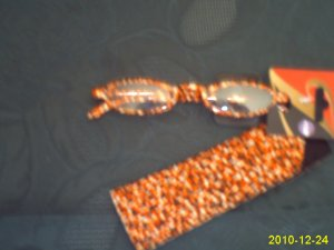 New Fun BROWN Fashionable Reading Glasses W Pouch eyeglassess +1.00