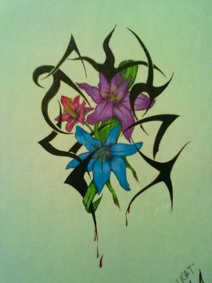 Flower tribal