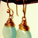 minty opalite and gold fill Classic drops