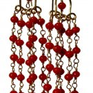 reclaimed coral and gold fill Waterfall earrings