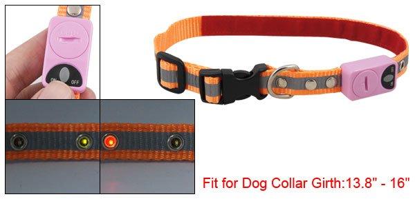 Red Green SMT LED Orange Gray Nylon Belt Rope Collar for Dog Pet