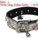 Rhinestone Metal Buckle Dog Collar Lock Bear Charms Neck Strap L