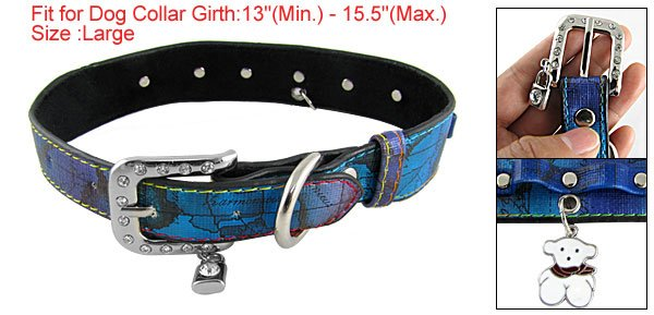 Sz L Single Prong Buckle 5-Perforated Adjustable Collar for Dog