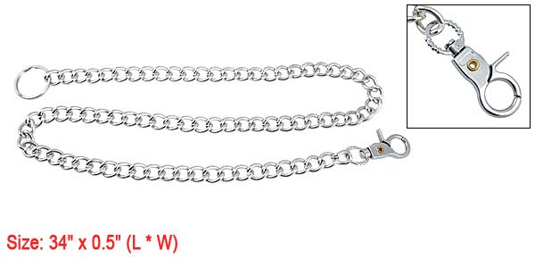 Adjustable Silver Tone Alloy Chain Leash Kit for Dog Pet Training