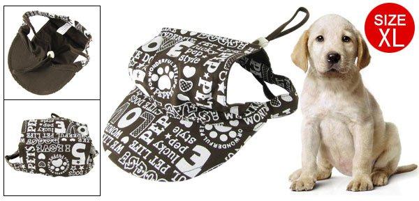 Size XL Cotton Dog Puppy Pet Cap Hat Cricket-cap Brown