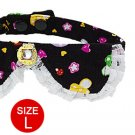 Size L Mushroom Style Rhinestone Decorated Necktie for Pet Dog
