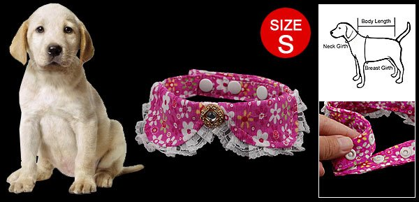 Size S Rhinestone Decorated Colorful Necktie for Pet Dog