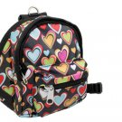Pet Dog Heart Pattern Backpack Harness Leash Set Medium