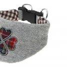 Dog Pet Gray Soft Cotton Fabric Triangle Collar Scarf
