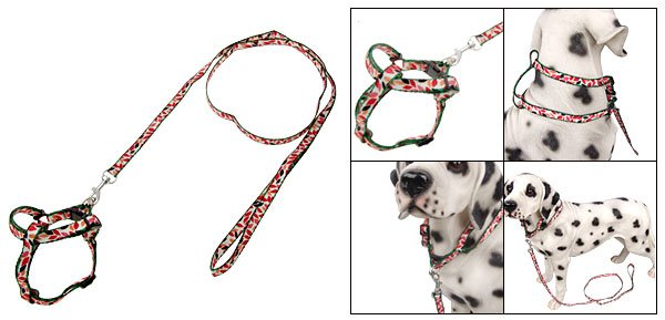 Multi-color Puppy Pet Dog Nylon Harness Pulling Leash Rope