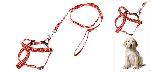 Nylon Pet Doggie Doggle Puppy Dog Adjustable Collar and Leash Set