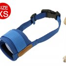 XS Dog Pet Mask Blue Soft Mesh Muzzle Bark Bite Grooming