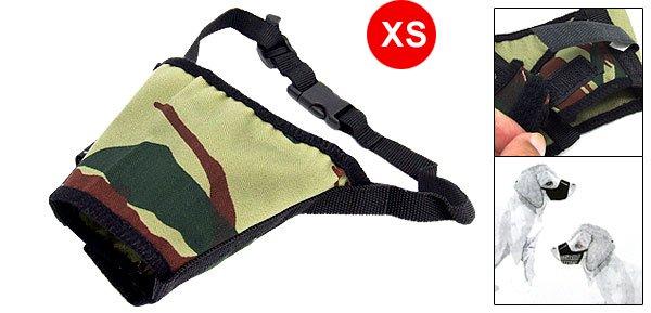 Army Camouflage Anti Bark Chew Bite Dog Muzzle XS