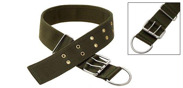Olive Green Adjustable Nylon Large Pet Dog Collar