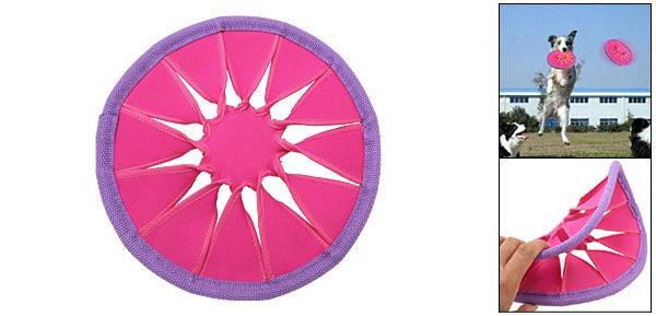 Puppy Dog Pet Catching Training Flyer Frisbee Play Toy