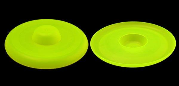 Fashion Interesting Training Dog Use Round Yellow Plastic Frisbee