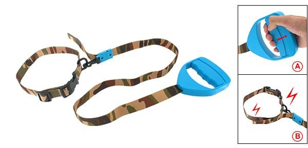 Electrostatic Dog Training Leash E-Collar - Blue & Army Color