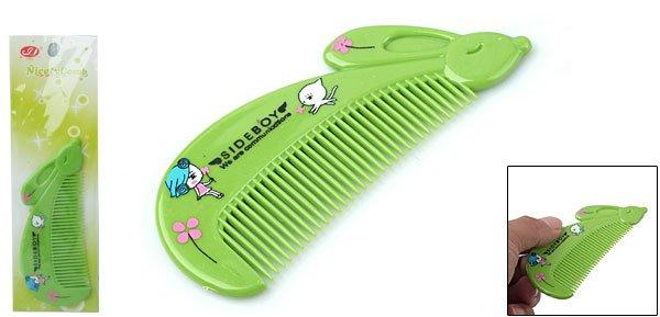 Charming Green Plastic Mini Protable Girl's Comb