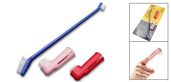Mini Portable Dog Cat Pet Mini Finger Style Toothbrush 3PCS