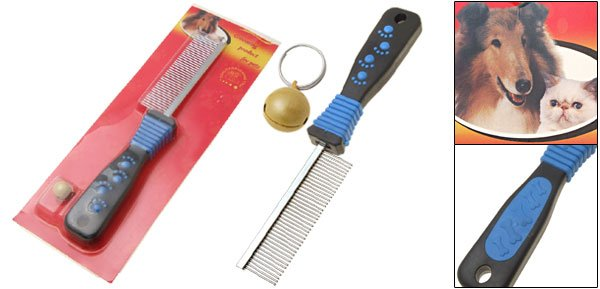 Deluxe Dog Cat Pet Grooming Comb with Fine Tooth and Small Bell