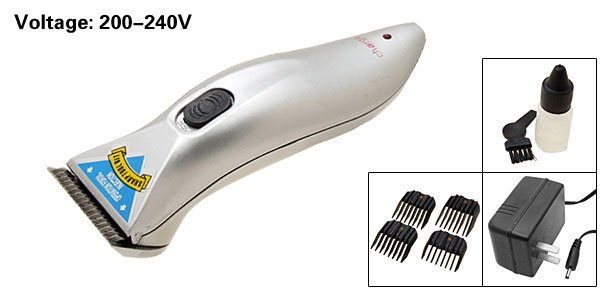 Rechargeable Animal Pet Grooming Clippers Set Silver (RFCD-2258)