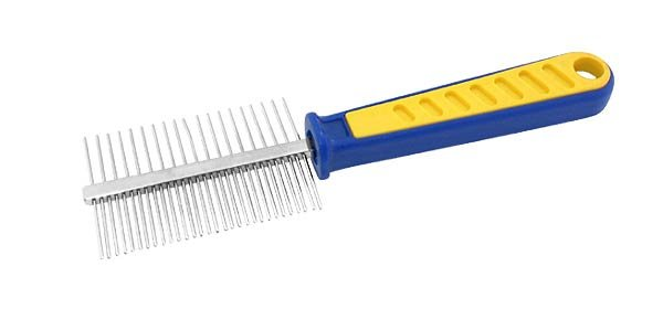 Dog Hair Grooming GREYHOUND Style Comb - Medium & Coarse Tooth