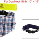 Detachable Check Prints Pet Dog Scarf w Ice Pack