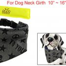 Black Star Skull Pattern Dog Neckerchief w Ice Pack