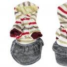 Ribbed Cuff Striped Dress Press Studs Hoodie M for Dog