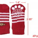 Red White Striped Monkey Pattern Elastic Socks for Dog