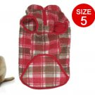 Size 5 England Checker Kangaroo Pocket Cotton Vest for Pet Dog