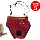 Size S Maroon Color Elastic Shoulder Belt Dog Puppy Diaper Pants