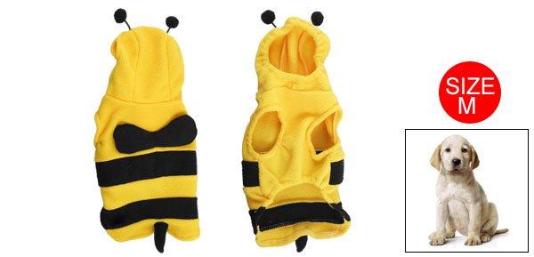 Yellow Black Honey Bee Sleeveless Costume M for Dog Pet