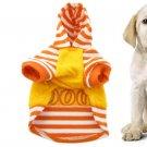 Puppy Orange White Stripe Plush Lined Autumn Hoody Size 1